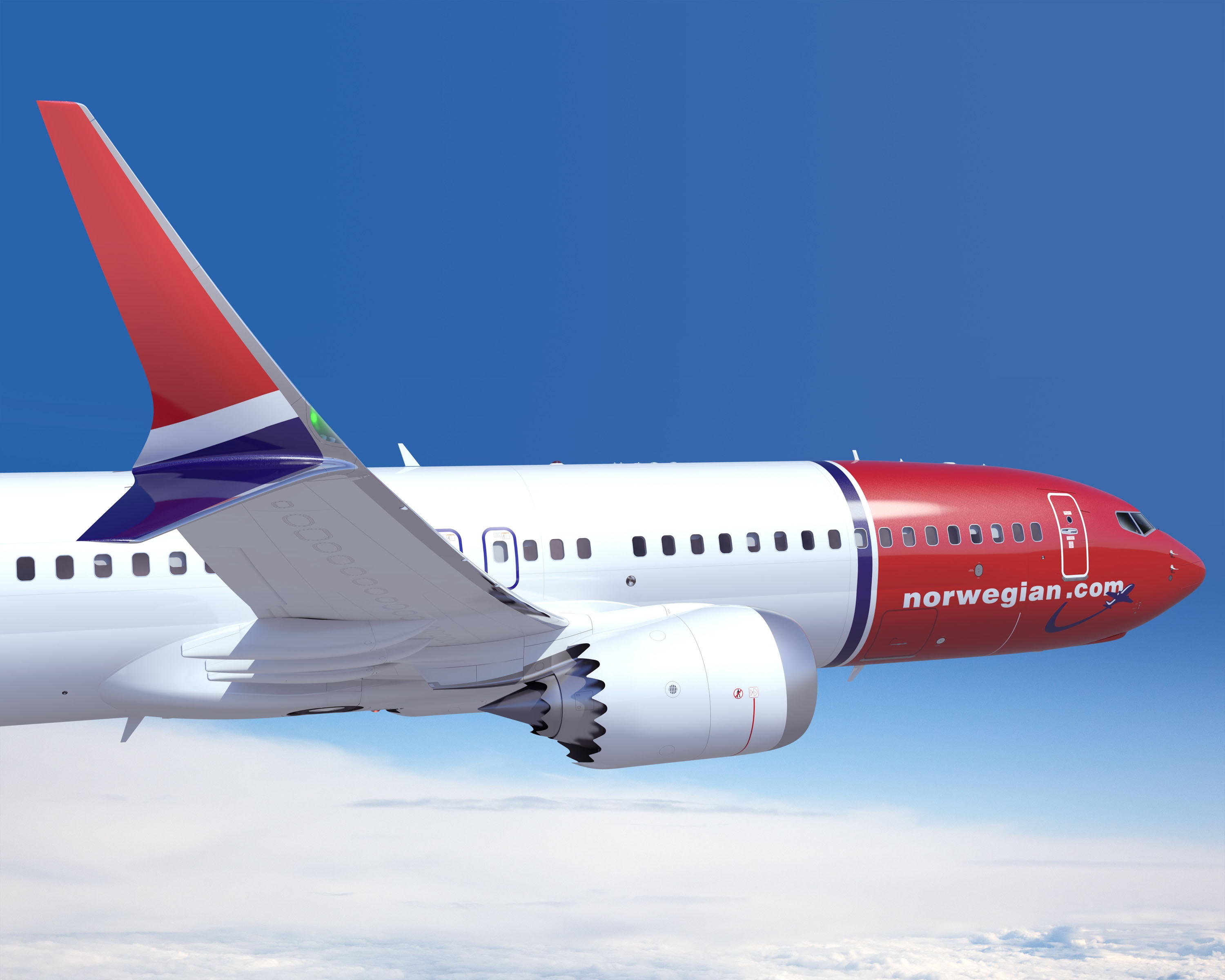 Norwegian's 737 MAX 8 design artwork