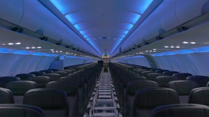 A Mockup Of Jetblue S Refreshed A320 Cabin Photo