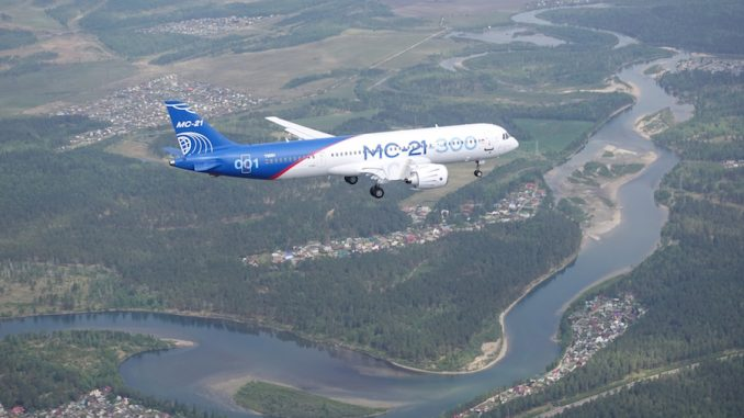 Irkut MC-21 makes first flight