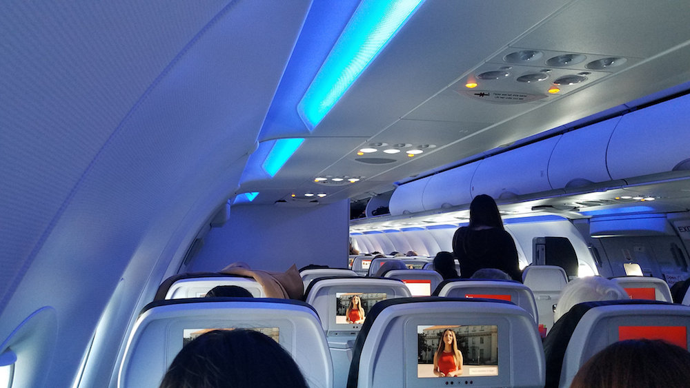 The Blue Hue Of Virgin Americau0027s A321neo Cabin During Boarding (Photo: Jeff  Hernandez)