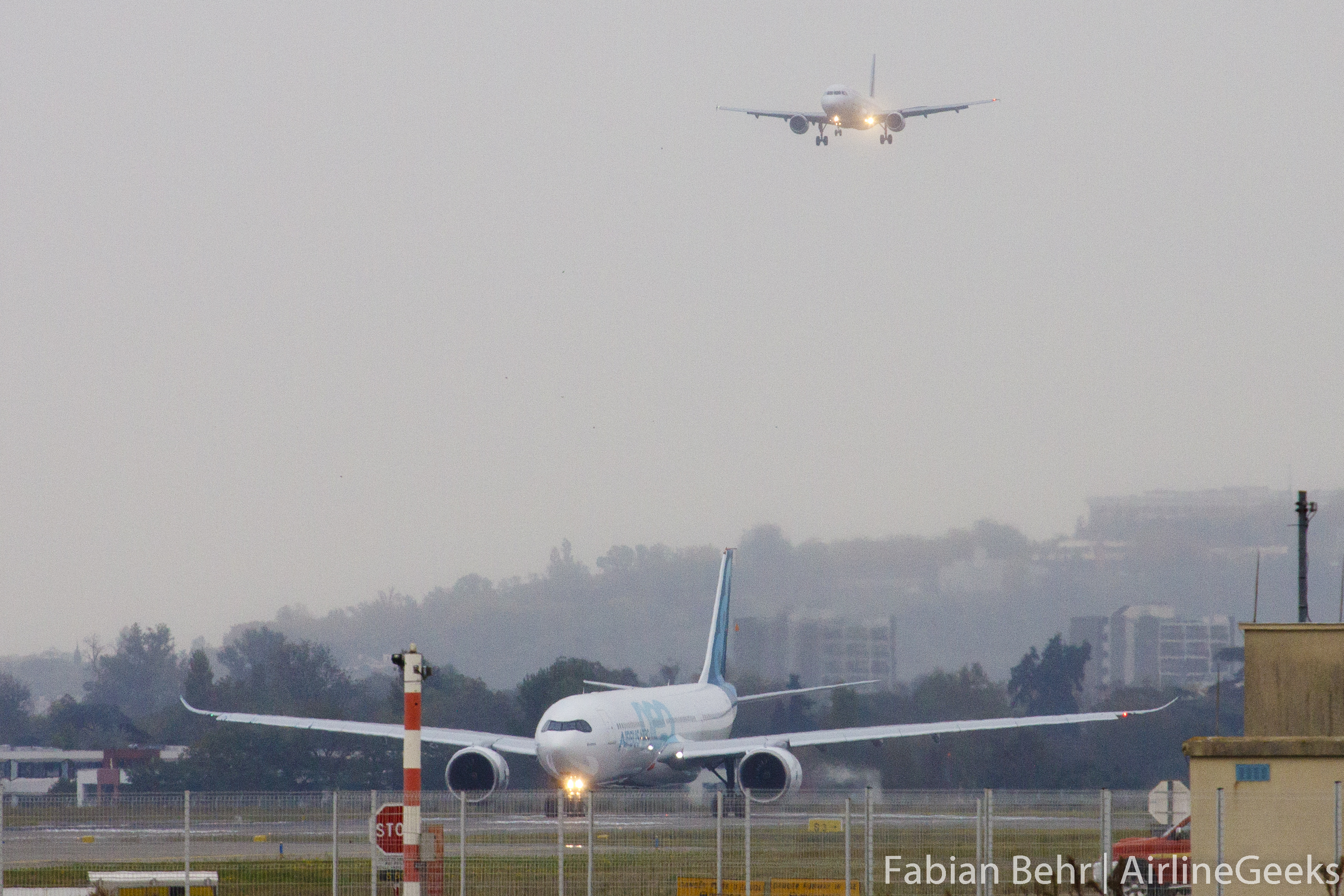The A330neo prepares for takeoff in Toulouse