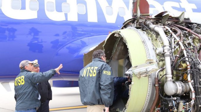 NTSB teams investigating damaged Southwest 737 engine