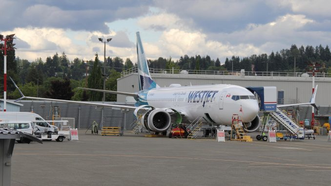 WestJet's New Livery Seen on Boeing 737 MAX Almost Ready for