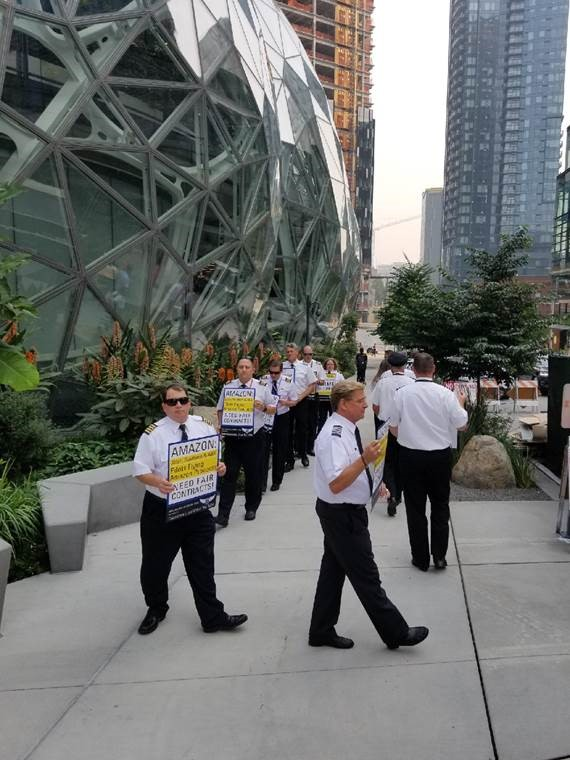Amazon Prime Air Pilots Head to Seattle for Protest Outside