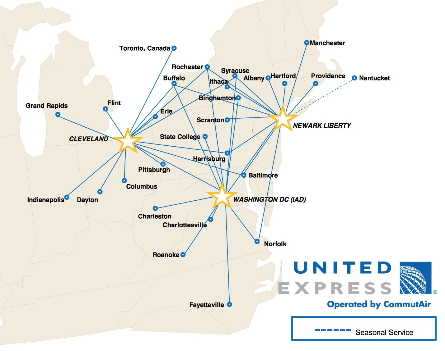 From Turboprops to Turbofans: Inside CommutAir's Transition ... on united airlines flight routes 2011, lufthansa airlines route map, united airlines route structure, british airways route map, spirit airlines route map, skywest airlines route map, asia pacific airlines route map, delta caribbean route map, american airlines route map, cayman airways route map, northwest airlines route map, latin america and caribbean map, aa route map, united international route map, delta air lines route map, jetblue caribbean route map, allegiant airlines route map, continental airlines route map, united route map europe, united airlines international routes,