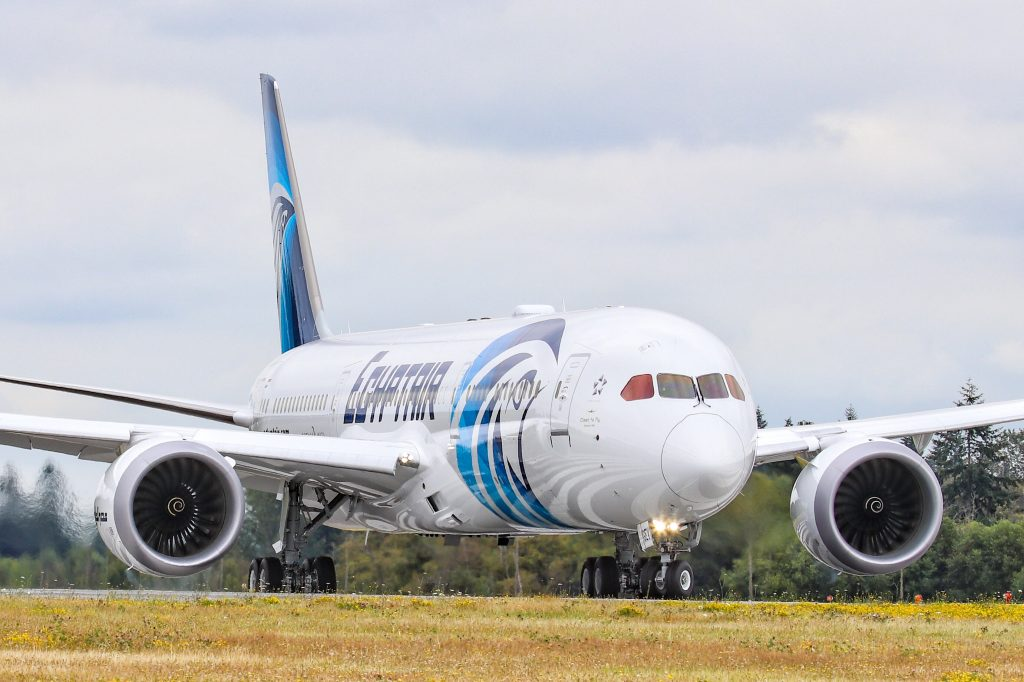 EgyptAir Flies Newest Dreamliner Home Using Biofuel, Sets