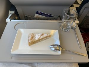 The tangerine cake was by far the best dessert I've had yet on an airplane. (Photo: AirlineGeeks