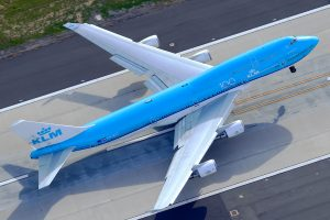 KLM 747 takeoff Los Angeles LAX