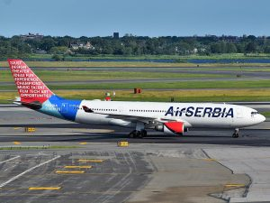 An Air Serbia A330-200. Photo: Adam Moreira (AEMoreira042281), CC BY-SA 4.0 , via Wikimedia Commons