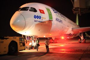 A Bamboo Airways 787 departs from Hanoi for its inaugural flight to the U.S. (Photo; Bamboo Airways)